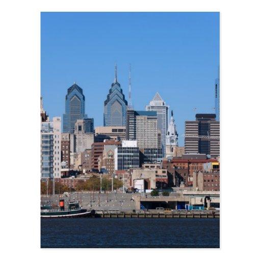 Horizonte de Philadelphia, visión media Postal
