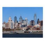 Horizonte de Philadelphia, visión media Postales
