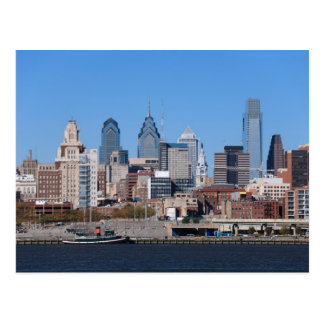 Horizonte de Philadelphia, visión media Tarjetas Postales