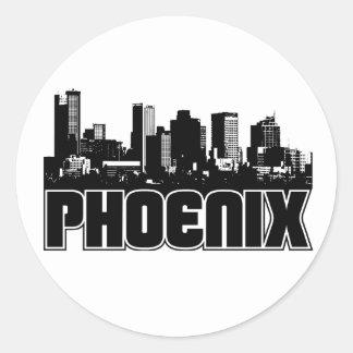 Horizonte de Phoenix Pegatina Redonda