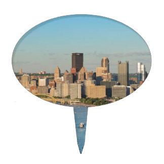 Horizonte de Pittsburgh Figura Para Tarta