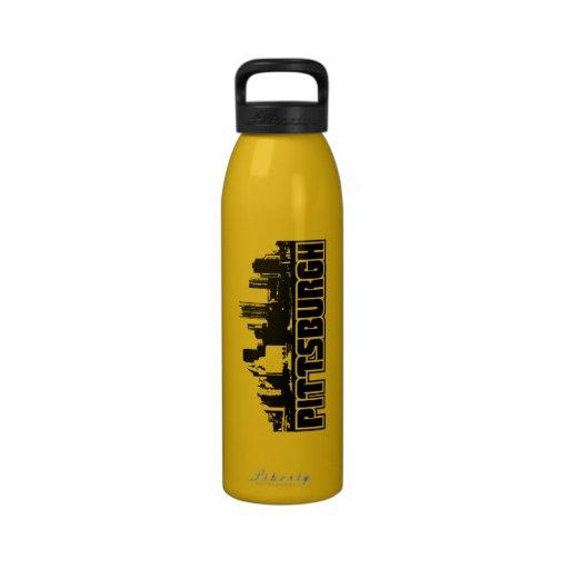 Horizonte de Pittsburgh Botella De Agua Reutilizable