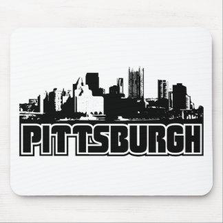 Horizonte de Pittsburgh Alfombrillas De Ratón