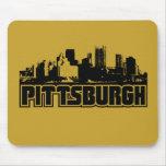 Horizonte de Pittsburgh Alfombrillas De Raton