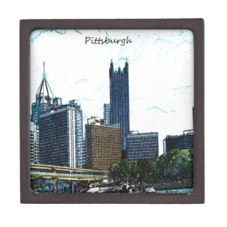 Horizonte de Pittsburgh Cajas De Joyas De Calidad