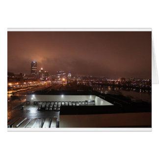 Horizonte de Pittsburgh de la tira Tarjeta De Felicitación