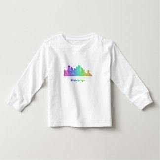 Horizonte de Pittsburgh del arco iris Playera De Bebé