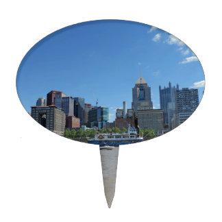Horizonte de Pittsburgh del parque de PNC Decoraciones Para Tartas