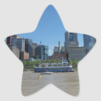 Horizonte de Pittsburgh del parque de PNC Pegatina En Forma De Estrella