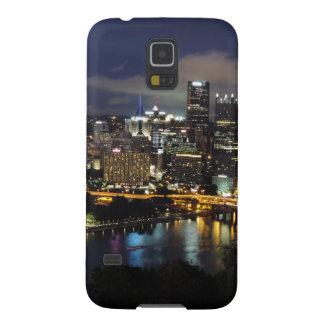 Horizonte de Pittsburgh en la oscuridad Carcasa De Galaxy S5