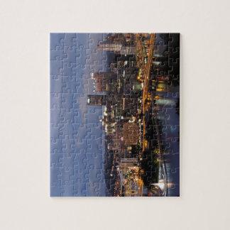 Horizonte de Pittsburgh en la oscuridad Puzzles