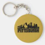 Horizonte de Pittsburgh Llavero Redondo Tipo Pin