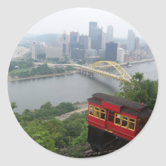 Horizonte de Pittsburgh Pegatinas Redondas