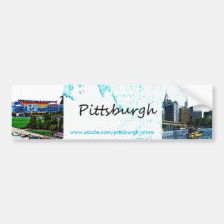 Horizonte de Pittsburgh Pegatina Para Auto