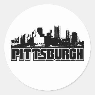 Horizonte de Pittsburgh Pegatina Redonda