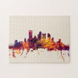 Horizonte de Pittsburgh Pennsylvania Rompecabeza Con Fotos