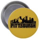 Horizonte de Pittsburgh Pin Redondo De 4 Pulgadas