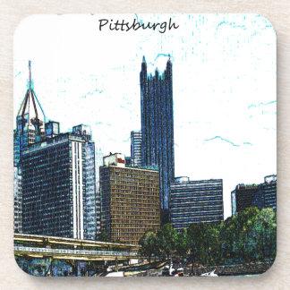 Horizonte de Pittsburgh Posavasos De Bebida
