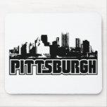 Horizonte de Pittsburgh Tapetes De Ratones