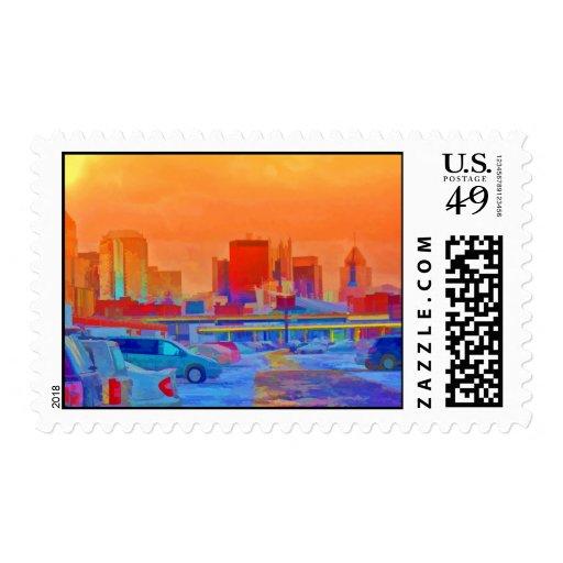 Horizonte de Pittsburgh Timbre Postal