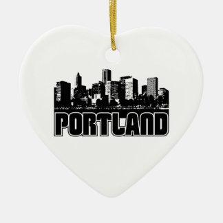 Horizonte de Portland Adorno Navideño De Cerámica En Forma De Corazón