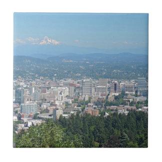 Horizonte de Portland con la capilla del soporte Azulejo Cuadrado Pequeño