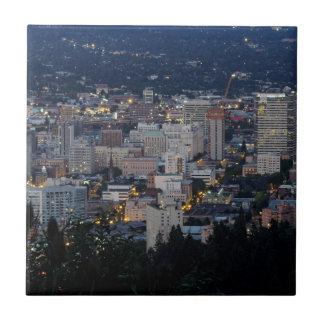 Horizonte de Portland en la oscuridad Azulejo Cuadrado Pequeño