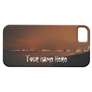 Horizonte de Puerto Vallarta en la noche; Funda Para iPhone 5 Barely There