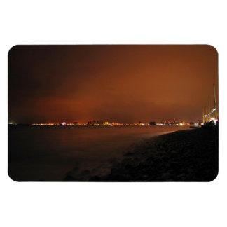 Horizonte de Puerto Vallarta en la noche; Ningún Imán Rectangular
