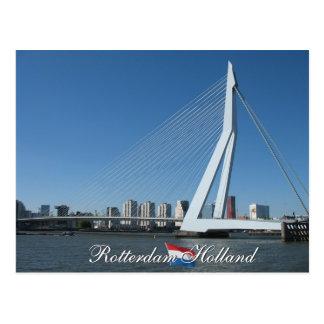 Horizonte de Rotterdam y postal de Holanda del pue