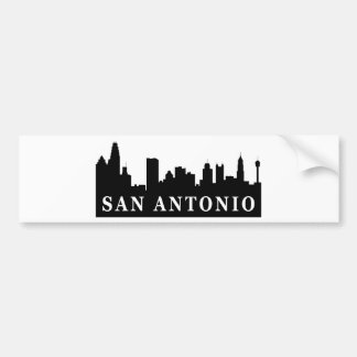 Horizonte de San Antonio Etiqueta De Parachoque