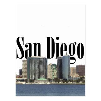Horizonte de San Diego con San Diego en el cielo Tarjeta Postal