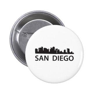 Horizonte de San Diego Pin Redondo De 2 Pulgadas