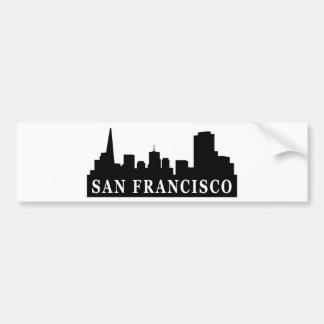 Horizonte de San Francisco Pegatina De Parachoque