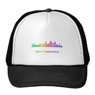 Horizonte de San Francisco del arco iris Gorras