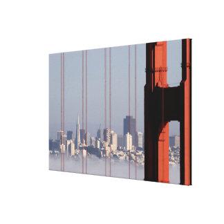 Horizonte de San Francisco del puente del Golden G Lienzo Envuelto Para Galerias