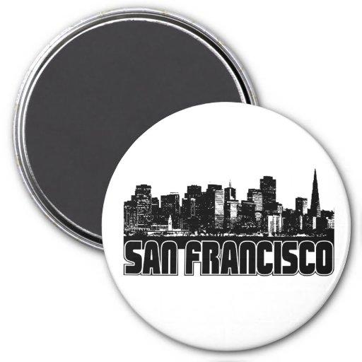 Horizonte de San Francisco Imán Redondo 7 Cm
