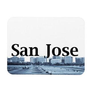 Horizonte de San Jose CA con San Jose en el cielo Iman Flexible