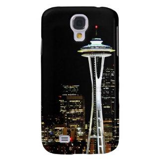 Horizonte de Seattle en la noche, con la aguja del Funda Para Galaxy S4