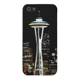 Horizonte de Seattle en la noche, con la aguja del iPhone 5 Carcasas