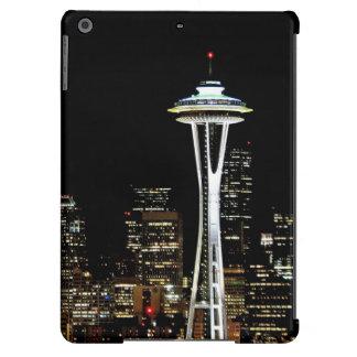 Horizonte de Seattle en la noche, con la aguja del Funda Para iPad Air