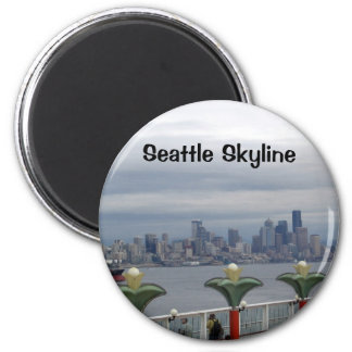 Horizonte de Seattle Imán Redondo 5 Cm