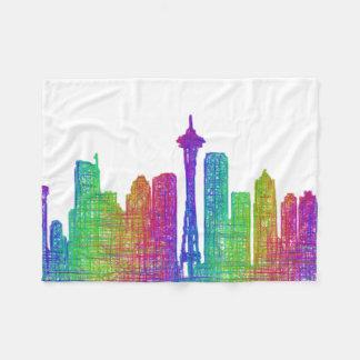Horizonte de Seattle Manta De Forro Polar