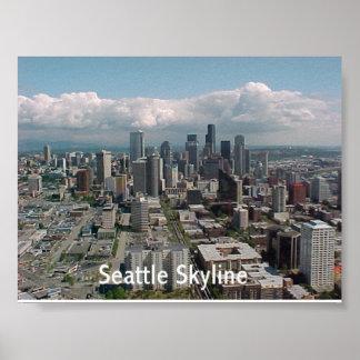 Horizonte de Seattle Poster