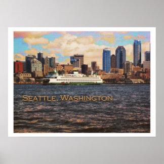 Horizonte de Seattle Impresiones