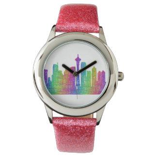 Horizonte de Seattle Reloj
