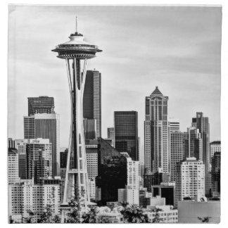 Horizonte de Seattle Servilletas Imprimidas