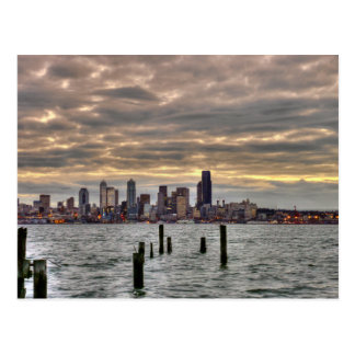 Horizonte de Seattle Tarjetas Postales
