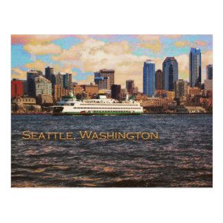 Horizonte de Seattle Tarjeta Postal