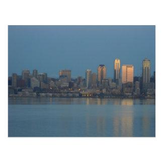 Horizonte de Seattle Postales